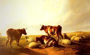 Thomas Sidney Cooper - Cattle and Sheep in a Landscape