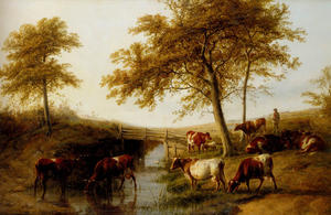 Thomas Sidney Cooper - Cattle Resting By A Brook