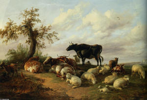 Thomas Sidney Cooper - Cattle Sheep and Goats