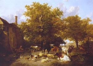 Thomas Sidney Cooper - Milking Time - Study of a Farm-Yard near Canterbury