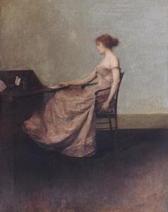 Thomas Wilmer Dewing - The Letter