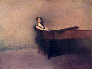 Thomas Wilmer Dewing - The Piano