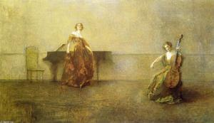 Thomas Wilmer Dewing - The Song and the Cello
