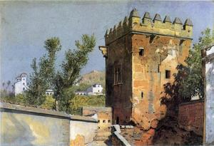William Stanley Haseltine - View from the Alhambra, Spain