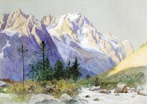 William Stanley Haseltine - Wetterhorn from Grindelwald, Switzerland