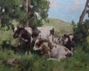 David Gauld - Calves in Summer