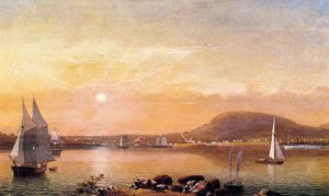 Fitz Hugh Lane - Camden Mountains and Harbor from the North Point of Negro Island