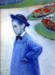 Gustave Caillebotte - Camille Daurelle in the Park at Yerres