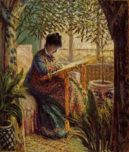 Claude Monet - Camille Embroidering