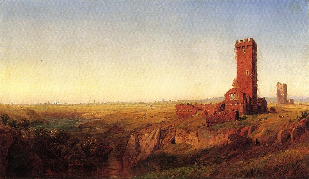 The Campagna of Rome, 1872 by Jasper Francis Cropsey (1823-1900, United States) | Famous Paintings Reproductions | WahooArt.com