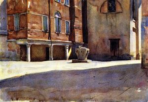 John Singer Sargent - Campo San Canciano, Venice (also known as A Piazza at Venice)