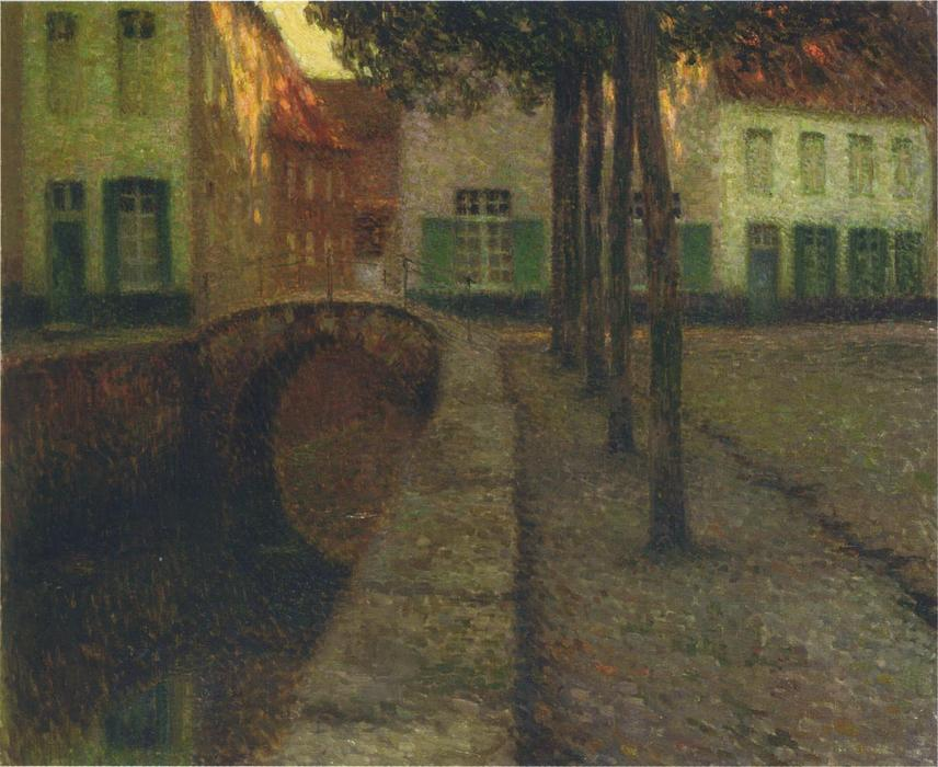 The Canal, Oil On Canvas by Henri Eugène Augustin Le Sidaner (1862-1939, Mauritius)