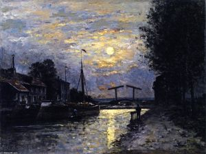 Stanislas Lepine - Canal in Saint-Denis, Effect of Moonlight