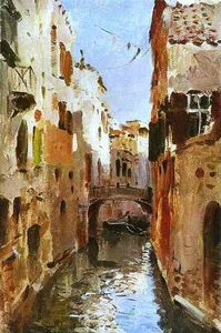 Isaak Ilyich Levitan - Canal in Venice. Sketch
