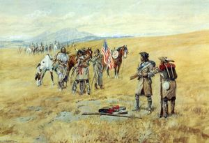 Charles Marion Russell - Captain Lewis Meeting the Shoshones