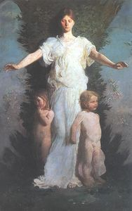 Order Art Reproduction : Caritas, 1895 by Abbott Handerson Thayer (1849-1921, United States) | WahooArt.com