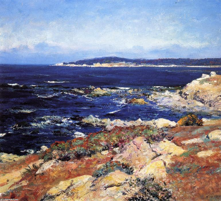 Carmel Seascape, 1918 by Guy Orlando Rose (1867-1925, United States) | Famous Paintings Reproductions | WahooArt.com