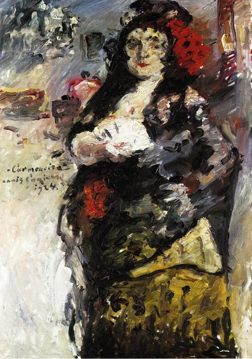 Order Painting Copy Carmencita, 1924 by Lovis Corinth (Franz Heinrich Louis) (1858-1925, Netherlands) | WahooArt.com | Order Oil Painting Carmencita, 1924 by Lovis Corinth (Franz Heinrich Louis) (1858-1925, Netherlands) | WahooArt.com