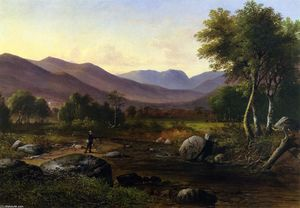 James Wells Champney - Carter Notch from the Wildcat River