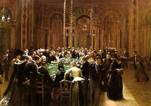 Order Museum Quality Copies | The Casino at Monte Carlo (also known as Rien ne va plus!), 1890 by Jean Georges Béraud (1849-1936, France) | WahooArt.com