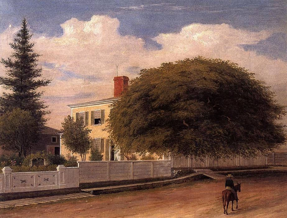 Castine Homestead, 1859 by Fitz Hugh Lane (1804-1865, United States) | Museum Art Reproductions Fitz Hugh Lane | WahooArt.com