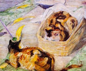 Franz Marc - Cat Basket (also known as Study of Cats III)