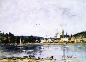 Eugène Louis Boudin - Caudebec-en-Caux, the Quay on the Seine