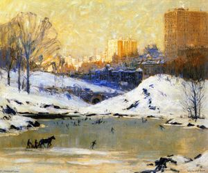 Colin Campbell Cooper - Central Park in Winter