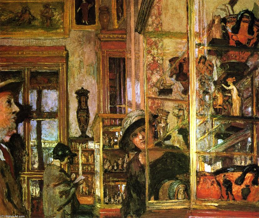 Ceramics (also known as Display Cases in the Louvre), 1922 by Jean Edouard Vuillard (1868-1940, France) | Famous Paintings Reproductions | WahooArt.com