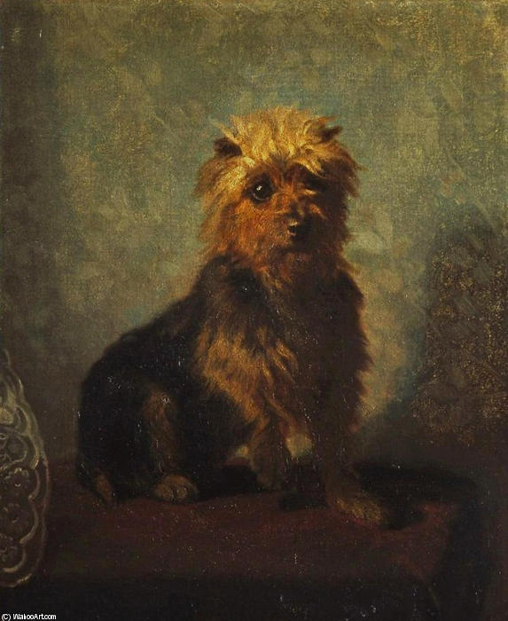 Chadwick?s Dog, 1874 by Abbott Handerson Thayer (1849-1921, United States) | Oil Painting | WahooArt.com