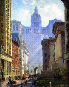 Colin Campbell Cooper - Chambers Street and the Municipal Building, N.Y.C.