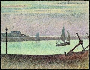 Georges Pierre Seurat - The Channel at Gravelines, Evening