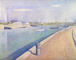 Georges Pierre Seurat - The Channel at Gravelines, Petit-Fort-Philippe