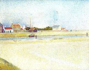 Georges Pierre Seurat - The Channel at Gravelins, Grand-Fort-Philippe