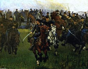 William Trego - The Charge of the Fifth Regulars at Gaines- Mill, 27th of June, 1862