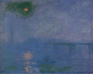 Claude Monet - Charing Cross Bridge, Fog on the Thames