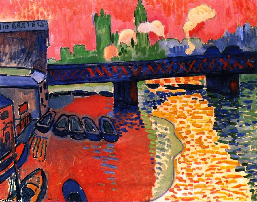 Charing Cross from sw, Oil On Canvas by André Derain (1880-1954, France)