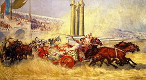 William Trego - The Chariot Race from Ben Hur (also known as The Second Goal)