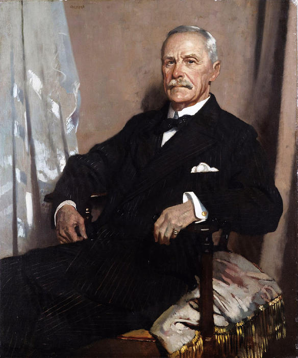 Charles Lawrence, 1st Baron Lawrence of Kingsgate, Oil On Canvas by William Newenham Montague Orpen (1878-1931, Ireland)