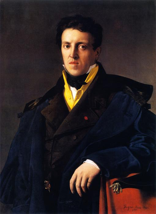 Charles Marcotte (also known as Marcotte d'Argenteuil), Oil On Canvas by Jean Auguste Dominique Ingres (1780-1867, France)