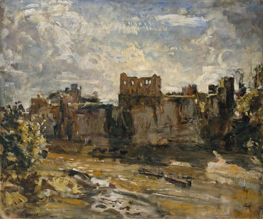 Chepstow Castle, 1905 by Philip Wilson Steer (1860-1942, United Kingdom) | Museum Quality Copies Philip Wilson Steer | WahooArt.com