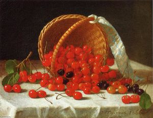 John F Francis - Cherries Spilling from a Basket