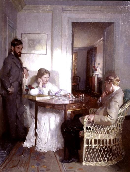 The Chess Players, 1902 by William Newenham Montague Orpen (1878-1931, Ireland)