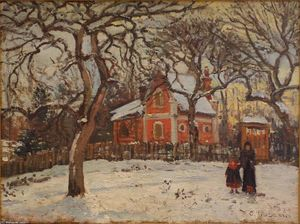 Camille Pissarro - Chestnut Trees at Louveciennes in Winter
