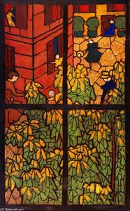 Jean Edouard Vuillard - The Chestnut Trees: Project for a Stained-Glass Window