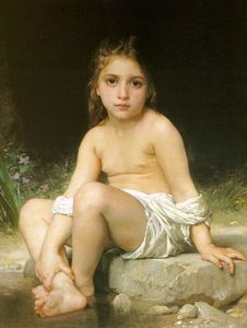 William Adolphe Bouguereau - Child at Bath
