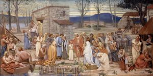 Pierre Puvis De Chavannes - The Childhood of Saint Genevieve