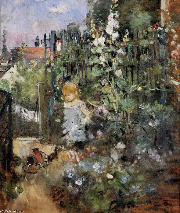 Child in the Rose Garden, 1881 by Berthe Morisot (1841-1895, France) | Art Reproduction | WahooArt.com