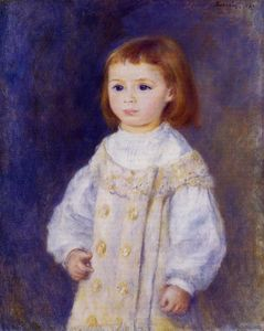 Pierre-Auguste Renoir - Child in a White Dress (also known as Lucie Berard)