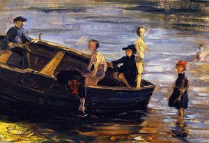 Franz Marc - Children on a Boat